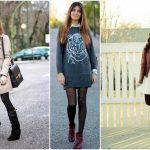 5 atuendos para usar vestidos en invierno