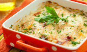 Verduras gratinadas con queso
