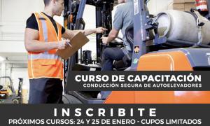 EL 24 Y 25 DE ENERO DE 2019 SE DICTARÁ EL CURSO DE CONDUCCION SEGURA DE AUTOELEVADORES
